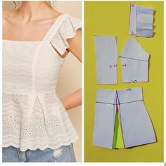 Ropa reciclada Archives - Best Sewing Tips - Her Crochet Dress Sewing Patterns, Clothing Patterns, Fashion Sewing, Diy Fashion, Costura Fashion, Sewing Blouses, Outfit Trends, Mode Outfits, Diy Dress