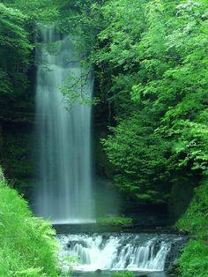 Glencar Waterfall near Sligo, Ireland. It's truly breathtaking.