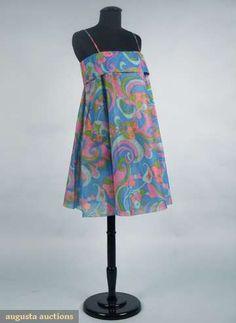 1968 Paper dress.  I had a few of these paper dresses!