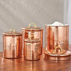 Merveilleux French Copper Canisters.Housewares .Kitchen Decor | Kitchen Decor, Kitchens  And Copper Kitchen