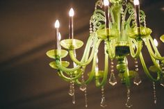 The Lime Green Chandelier