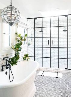 Check out this bold tile floor! We've got a bunch of other inspiring examples of tile being used as statement pieces. Check out the tour! | #Tile #TileFloor #interiorDesign