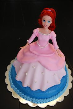 Ariel Doll Cake {3d Cake} A Little Something Sweet Custom more at Recipins.com
