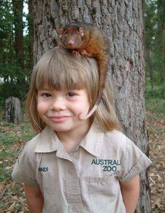 Little Bindi Irwin and friend.  v@e.
