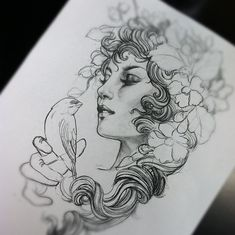 Next tattoo going on my left thigh! This original piece done by Justin Hartman…
