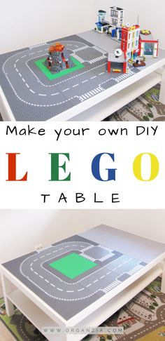 This is a super simple DIY tutorial DIY Lego table and Ikea hack. Quick and easy. , This is a super simple DIY tutorial DIY Lego table and Ikea hack. Quick and easy DIY project make it in less than 1 hour. Guaranteed hours and hours of fun! Diy Simple, Super Simple, Table Lego Ikea, Lego Building Table, Mesa Lego, Diy For Kids, Crafts For Kids, Lego Bedroom, Kids Bedroom
