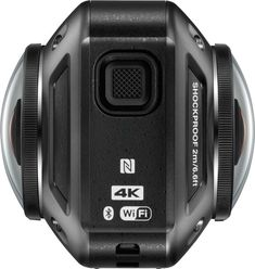 Above, Nikon KeyMission 360, side view. Nikon KeyMission 360 (Full 360° Video in 4K UHD) Action Camera Enables You to Capture, Create & Share Engaging, Personal Missions: Waterproof, Freezeproof & Shockproof http://www.photoxels.com/nikon-keymission-360-170-80/