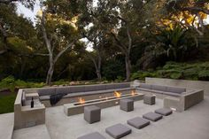 Glass Pavilion, an ultramodern house by Steve Hermann very modern fire pit. This is the idea i would like to go with for our pitvery modern fire pit. This is the idea i would like to go with for our pit Fire Pit Seating, Outdoor Seating Areas, Outdoor Rooms, Outdoor Gardens, Outdoor Living, Outdoor Decor, Terrasse Design, Patio Design, Garden Design