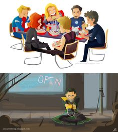 Avengers: Shawarma and Loki - it's funny cuz every time i watch this movie, i always wonder where loki is during the shawarma scene.