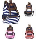 Watermelon-Red Striped Printing Backpack Students Shoulder Campus Laptop Bag USA
