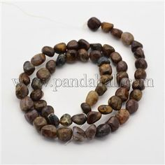 Natural Jade Bead Strands G-P070-11