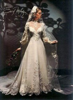 Eve of Milady Wedding Gown, - Beautiful Bridal Gowns - 1980s Wedding Dress, Wedding Dress Trends, Dream Wedding Dresses, Wedding Attire, Blue Bridesmaid Dresses, Bridal Dresses, Eve Of Milady Wedding Gowns, Style Année 80, Bride Gowns