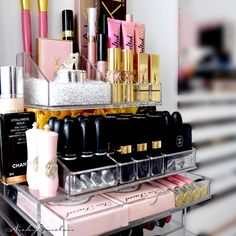 Large acrylic makeup organizer with 5 drawers from Amazon