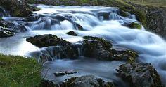 Upstream of waterfall, Kirkjufell mountain, Snæfellsnes Peninsula. Iceland in July 2012. © Miikka Järvinen
