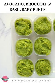 Broccoli Avocado amp Basil Puree Iron Rich Baby Food This broccoli avocado and basil puree is an incredibly nutritious first food for babies. Iron rich and full of healthy fats and calories with a deliciously smooth texture from the avocado. Baby Puree Recipes, Pureed Food Recipes, Broccoli Recipes, Baby Food Recipes, Food Baby, Broccoli Baby Food, Broccoli Ideas, Avocado Baby Food, Avocado Recipes