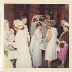 Kodacolor Photo Bride Groom in Wedding Reception Line 1968 1960s Wedding, Vintage Wedding Photos, Vintage Weddings, Vintage Bridal, Vintage Photos, Wedding Pictures, Bridal Gowns, Wedding Gowns, Wedding Reception