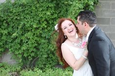 Photo by Amanda Madrid  - Authenticity - Redhead, Bride and Groom Pictures, Natural Picture, Curly Wavy Red Hair