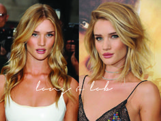 Rosie Huntington Short vs. Long hair - I've had so many people ask me about cutting my hair that I decided to post about it - How I decided to do it, the photos I showed my hair stylist, some of my favorite before & afters, and how I feel now that it's cut palms-to-pines.com