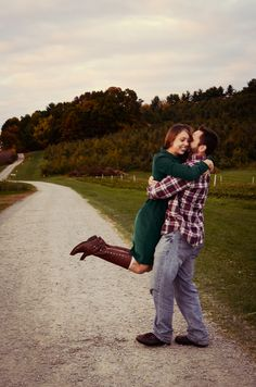 fall engagement phot
