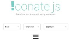 Iconate.js – Transform your icons with trendy animations