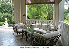 veranda british colonial design | Tropical British Colonial Architecture And Design Stock Photo 1762868 ...