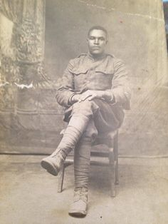 """Just found this picture of my great great grandpa from WW1. He looks pretty stone cold."""