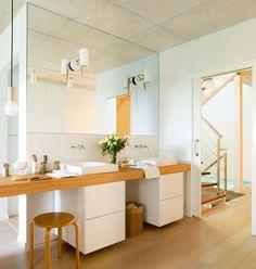 Un baño cálido y luminoso · ElMueble.com · Cocinas y baños