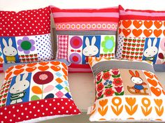More Jane Foster Miffy cushions  www.janefoster.co.uk