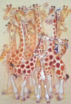Casey G. I like this paintings of girafes