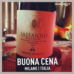 Buona Cena  #milan #city #home #friends #wine #Sassaiolo #rosso #tumblr #twitter #foursquare #facebook #pinterest #instagram #food #love #beautiful #like #life #cena #cool #kiss #night