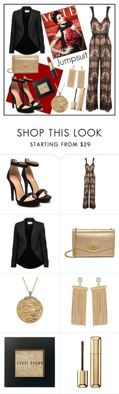 """""""Lace jumpsuit"""" by lavandel ❤ liked on Polyvore featuring Catherine Deane, Antonio Berardi, Mulberry, Roberto Coin, May Moma, Bobbi Brown Cosmetics, Guerlain and jumpsuits"""
