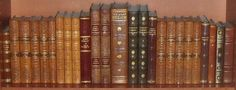 25 BEAUTIFUL ANTIQUE LEATHER BOUND BOOKS - GOLD DECOR - OLD WORLD PHOTOS | eBay