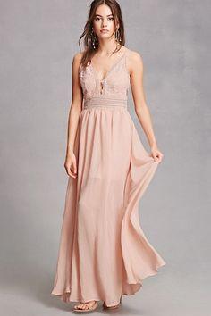 b1df0b9adf6 Soieblu Crochet Maxi Dress Crochet Bridesmaids Dresses