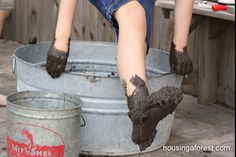 Mud, Mud, Glorious Mud... ready to make mud prints on paper or sidewalk