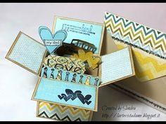 Tutorial Box card con busta (envelope punch board) per la festa del papà...