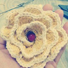 Flor em croché 🌻 🌼 🌹