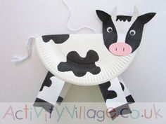Paper Plate Cow …