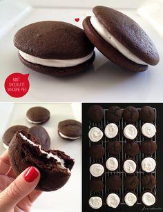 Chocolate Mint Whoopie Pies. Mmmmm.