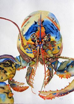Art - Maine Lobster - Painting