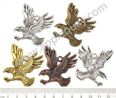 Zinc Alloy Eagle Pendants,Flat,Cadmium And Lead Free,Various Color For Choice,Length*Width*Thick:Approx 42*38*3mm,Hole:3mm,Sold By Bags,NO 000160  Unit Price:USD 0.12 MOQ:300 pcs Email: lichunjuan1@sina.com