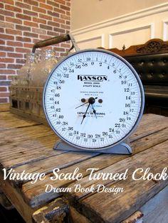 Vintage Scales Turned Clock