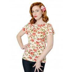 Top Tee Shirt Pin-Up Rétro Rockabilly 50's Sherri