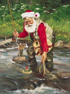 Tom Browning Catch of the Day Santa Cards