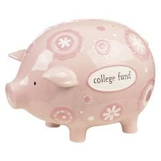 Pink Jumbo College Fund Piggy Bank