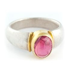 Pink tourmaline gemstone in a golden setting by COCOCCIJewelry, Tourmaline Gemstone, Pink Tourmaline, Handmade Jewelry, Unique Jewelry, Handmade Gifts, Druzy Ring, Jewerly, How To Memorize Things, Product Launch