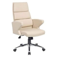 Milot Leather Faced Chair, Cream