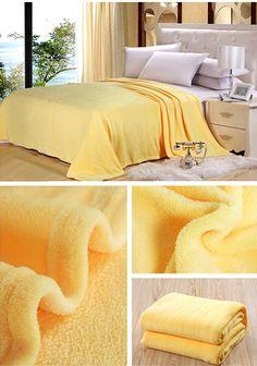 Modne żółte koce
