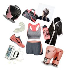 """""""Boxing"""" by caseywoodxo ❤ liked on Polyvore featuring NIKE, Everlast, Victoria's Secret PINK, adidas, H&M and Equipment"""