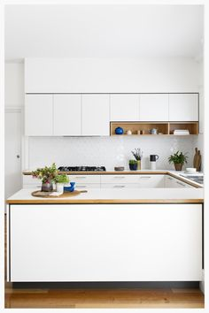 Kitchen island ideas for inspiration on creating your own dream kitchen. diy painted small kitchen design - with seating and lighting Minimalist Modern Kitchens, Modern Kitchen Design, Interior Design Kitchen, Home Design, Kitchen Decor, Design Ideas, Kitchen Ideas, Kitchen Designs, Kitchen Dining