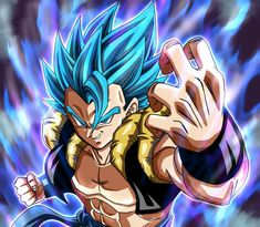 carte dragon ball z spécial Gogeta Blue Original Laser Rainbow